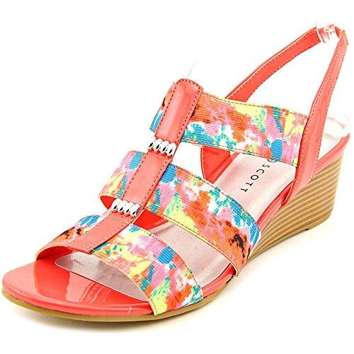 Karen Scott Johane Toile Sandales Compensés Pink Floral