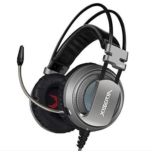 xiberia-v10-cuffie-gaming-usb-suono-surround-over-ear-auricolari-con-microfono-per-pc-grigio