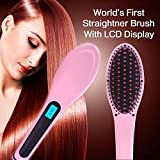 Swarish ouch-screen Fast hair straightener brush professional electric flat iron comb Ceramic+titanium smoothing straightening
