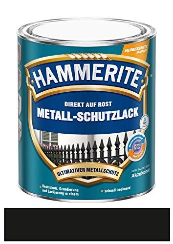 Preisvergleich Produktbild 250 ml Hammerite Direkt auf Rost Metall-Schutzlack Schwarz, Matt