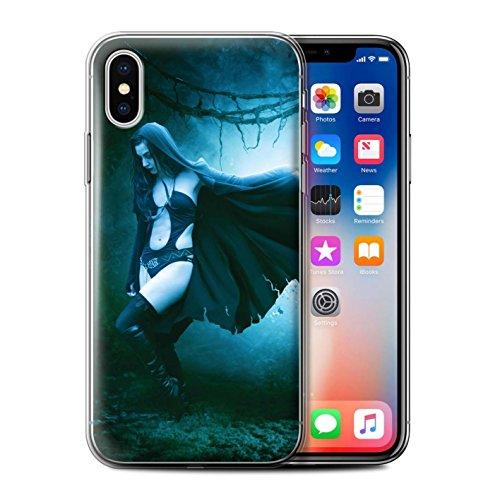Offiziell Elena Dudina Hülle / Gel TPU Case für Apple iPhone X/10 / Schlafwandler Muster / Dunkel Magie Kollektion Wind/Sturm/Wald