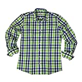 Almsach Herren Trachtenhemd Slim Fit Baumwolle Bügelfrei Langarm mit Krempelärmeln Figurbetontes Hemd zur Lederhose oder Jeans kariert Royal Tanne Gr: M (39/40)