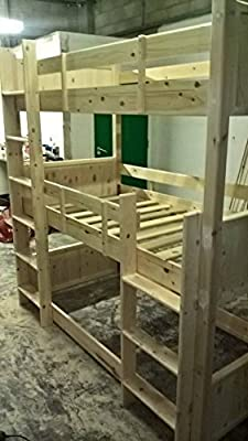 Triple Bunk Bed. Made to order built to last. Easy to assemble. Made in the UK out of solid Pine.