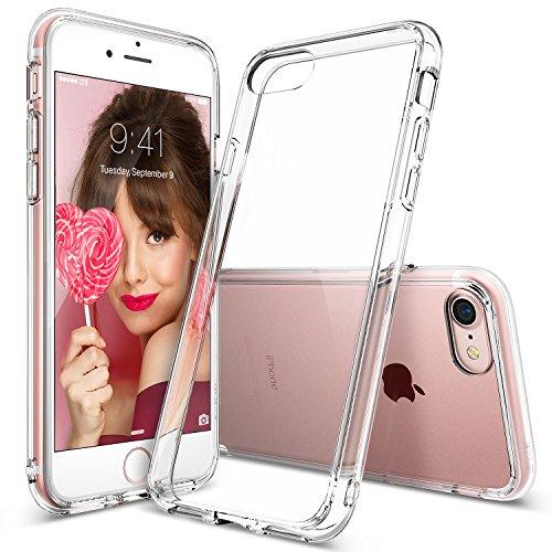 Cover iPhone 7, Ringke [FUSION] Crystal Clear PC Ritornare TPU [Goccia di Protezione / Shock Tecnologia ad Assorbimento] Cresciuto Protective Cover Custodia Bezels per Apple iPhone 7 2016 - Clear