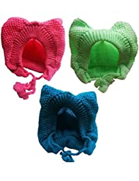 ea28161a2c8 PEUBUD ® woolen cap for baby Cute Rabit t Toddler Baby Boy Girl Winter Knit  Woolen Bendable Round Caps Topi…