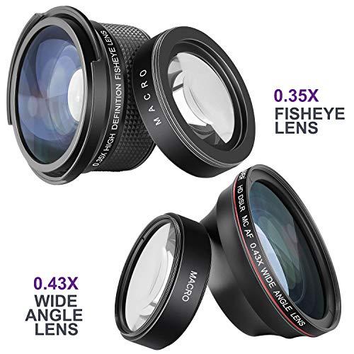 Neewer 58mm Lente per Fotocamera Professionale e Set di Filtri con Lente Fisheye, Lente Grandangolare e Filtri per Canon Rebel T6i T6S T5i T5, EOS 750D 760D 650D ecc