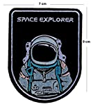 TENNER.LONDON Astronaut Space Explorers Parche bordado para planchar o coser en Nasa Space Agencia, diseño bordado de...