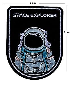 agencia de diseño: TENNER.LONDON Astronaut Space Explorers Parche bordado para planchar o coser en ...