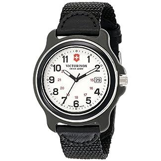 Victorinox 249086– Reloj de Hombre, Esfera analógica Original XL de Movimiento de Cuarzo Suizo, Color Negro