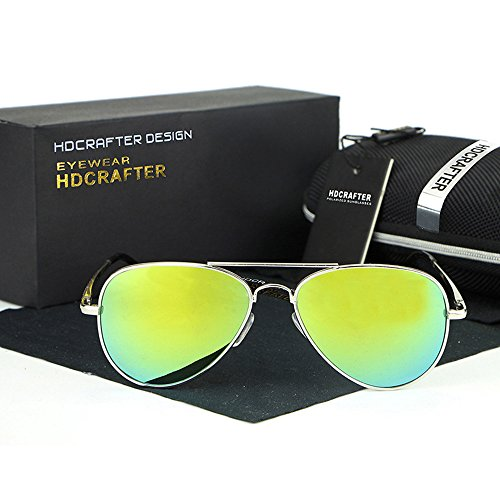 YanFa Sunglasses Mann, Sonnenbrille, Mode, Freizeit, im Freien, gelb, S11225