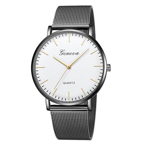 Damen Uhren,Pottoa Genf Damen Klassische Quarzuhr   Edelstahl Armbanduhr   Luxus Armband Uhren  Damen Uhren Billig   Armbanduhr Damen Uhr Edelstahl Armband (A)