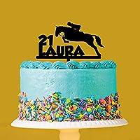Personalised Horse Riding Acrylic Cake Topper