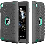 iPad 4 Case,iPad 2 Case,iPad 3 Case,TOPSKY [Tire Man Series] Shock-Absorption High Impact Resistant Hybrid Armor Defender Shockproof Case Cover For iPad 2/3/4 (Only For 9.7 inch iPad), Grey-Green