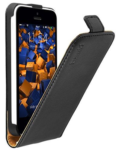 mumbi PREMIUM Leder Flip Case für iPhone 5c Tasche