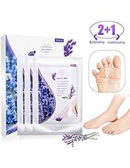 3 Pairs Masque Pied Peel, MEOWMEE Exfoliating Foot Mask pour Soft Tender Feet Démaquillant Exfoliant Peeling Off Peau Morte et Hydratant Réparateur Traitement