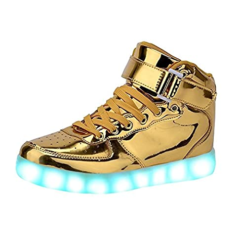 Baskets Lumineuses Homme - Aidonger Unisexe LED Lumineux Chaussures 7 Couleurs
