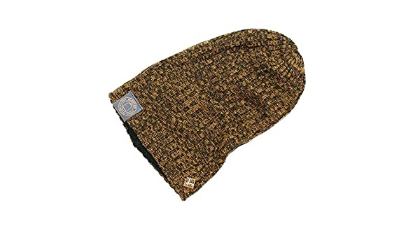 ef34f1c7b0e American Eagle Men s Slouchy Reversible Beanie Hat - Brown - 0 S US   Amazon.co.uk  Clothing
