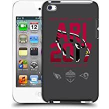 Official NFL Arizona Cardinals Logotype 2017 London Games Teams Hard Back Case for Apple iPod Touch 4G 4th Gen
