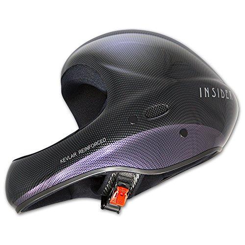 Charly INSIDER Carbon Look Flugsporthelm für Gleitschirm und Drachen, Größe L