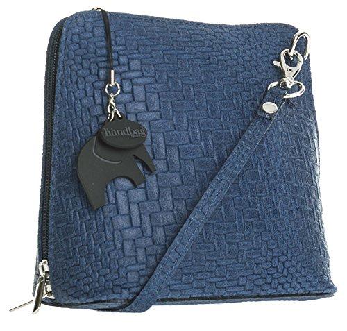 Big Handbag Shop, Borsa a tracolla donna Taglia unica Rattan - Navy