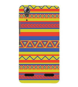 Rangoli Pattern Wallpaper 3D Hard Polycarbonate Designer Back Case Cover for Lenovo A6000