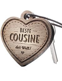 Schlüsselanhänger Beste Cousine der Welt!