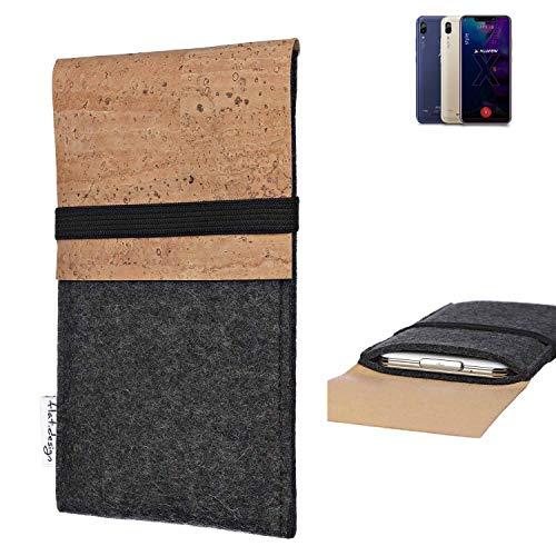 flat.design Handy Hülle SAGRES für Allview Soul X5 Style Made in Germany Handytasche Filz Tasche Schutz Case fair Kork