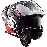 LS2 Casque moto VALIANT AVANT Blanc Noir Rouge - XL, Blanc/Noir/Rouge, Taille XL