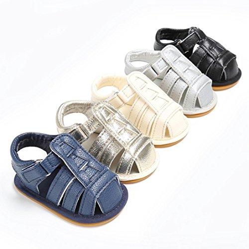 Pour 0-18 mois Bébé,Transer ® Bébé fille garçon doux berceau unique Toddler sandales en cuir espadrilles Or