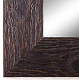 Spiegel Wandspiegel Badspiegel Flurspiegel Garderobenspiegel - Über 200 Größen - Venedig Dunkel Braun 6,8 - Außenmaß des Spiegels 80 x 110 - Wunschmaße auf Anfrage - Antik, Barock