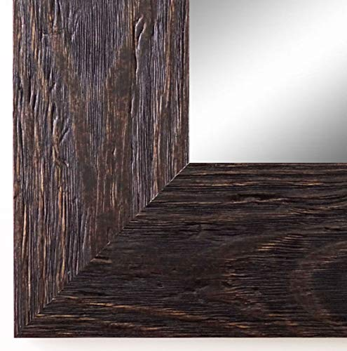 Spiegel Wandspiegel Badspiegel Flurspiegel Garderobenspiegel - Über 200 Größen - Venedig Dunkel Braun 6,8 - Außenmaß des Spiegels 40 x 50 - Wunschmaße auf Anfrage - Antik, Barock