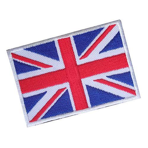 Lucky Patches, Aufnäher, Iron on Patch, Applikation, Fahne, Flagge, Wimpel - England, Großbritannien, Vereinigte Königreich, Union Jack, UK 7 x 5 cm (1#)