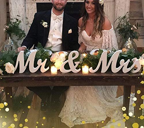 Holz Mr Mrs Hochzeit Zeichen Dekorative DIY Weiß Brief Romantische Mariage Dekoration Tisch Dekor Für ReceptionTake Foto Mr & Mrs (Mr Und Mrs Hochzeit Tisch Zeichen)