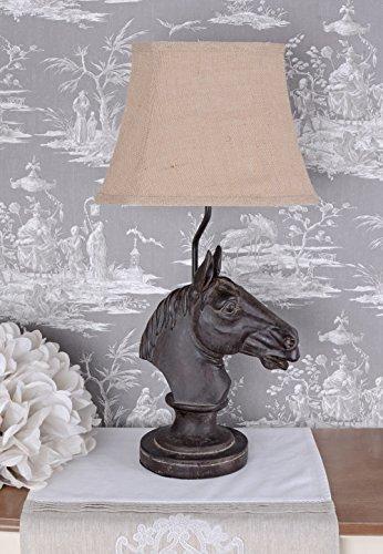Pferd Leuchten (Tischlampe Pferd Lampe Kolonialstil Tischleuchte Pferdekopf Leuchte Palazzo Exclusiv)