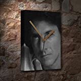 H720 (4 SEASONS) DUSTIN HOFFMAN - Canvas Clock (A5 - Signed by the Artist) #js002