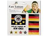 Alsino Fan Tattoo 6er Set Deutschland Tattowierung Flagge Stern & Schriftzug - 6 Tattoos WM Fanartikel