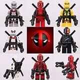 Your's Choice 6pcs Set Mini figura Deadpool X - hombres de súper héroes Dc Comics Marvel adapta Lego