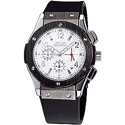 YPS Men Number&Nail Shape Scale Quartz Movement Multifunction Sub Dials Calendar Luminous Wrist Watch WTH5312