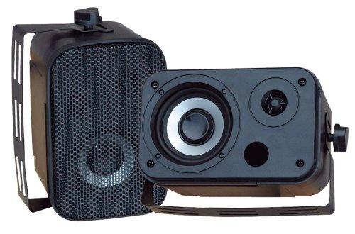 Pyle Home pdwr40b 5,25Indoor/Outdoor wasserdichte Lautsprecher (schwarz) High Power 4 Ohm Woofer