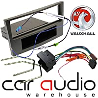 T1 Audio T1-VX06 - Complete Car Stereo Facia Fitting Kit. Single Din Facia, Release Keys, ISO Loom & Aerial Adaptor (GUN METAL)