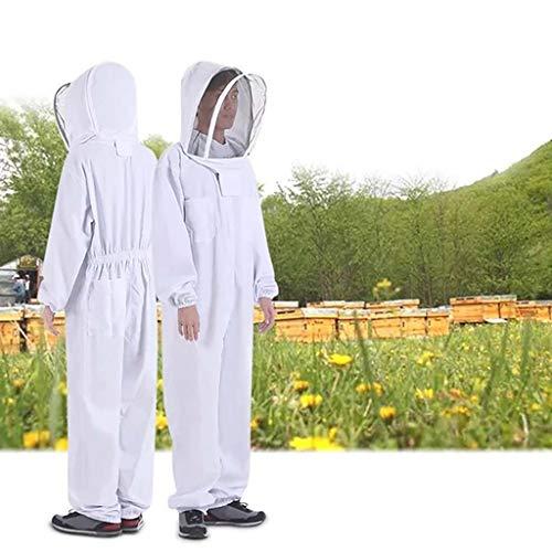 CPPK Imkeranzug mit Zaunschleier für Imker,Belüfteter,Baumwolle Imker-Anzug,Unisex Imker Biene Anzug für Professionelle Imker und Anfänger,XXL