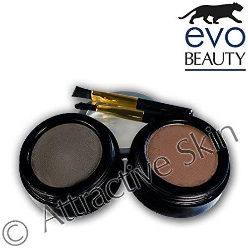 Attractive Skin evoeye Poudre sourcils Dark Brown & Soft Black 2 x 3 g