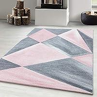 Carpetsale24 DESIGN AREA RUGS ABSTRACT GEOMETRIC DESIGN PINK, Size:160x230 cm