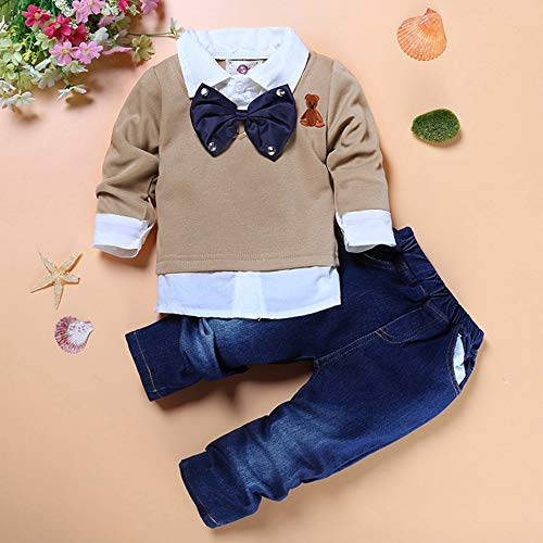 Si Noir by Hopscotch Trendy T-Shirt and Jeans Set-3-4 Years