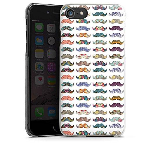 Apple iPhone X Silikon Hülle Case Schutzhülle Schnurrbart Hipster Muster Hard Case transparent