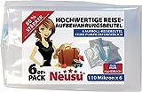 Neusu Starke Aufrollbare Vakuum-Reisebeutel, 110 Mikron,6er-pack Mittelgroß 35x50cm