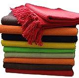 GMMH Fleckerlteppich Baumwolle Handweb Teppich Flickenteppich Fleckerl Handwebteppich (150 210 cm, grün)