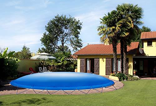 ! (Profi-Qualität) Runde aufblasbare Poolplanen Schwimmbad Abdeckungen aus LKW-Plane (Pooldurchmesser: 360cm, Grün)