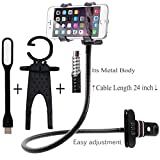 Iceberg Makers.In combo of Premium Upgrated Metal Universal Flexible Long Arm Mobile Holder Stand and Multifunctional Cell Phone Holder and Spider USB LED Light For Home Storage & Organization