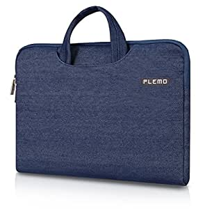 Plemo 15-15.6 Inch Laptop Sleeve Case Waterproof Fabric Bag for MacBook Air / 15.6-Inch Laptops / Notebook, Blue